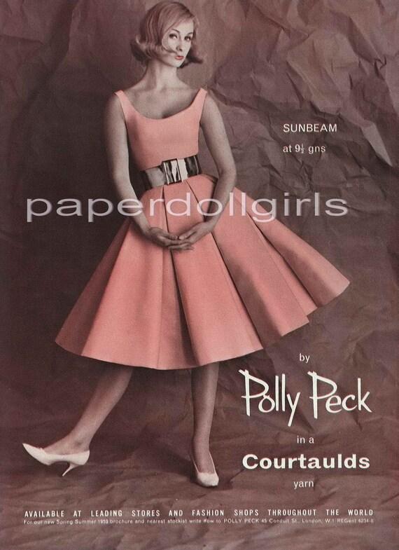 Items similar to Fashion Magazine Ad, Vogue UK, 1959 ...