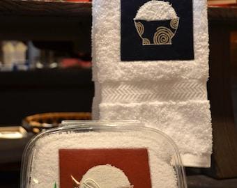 KiMonoMono swirl ricebowl hand towel