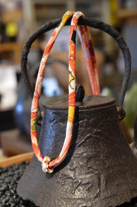 chirimen cord necklace purple