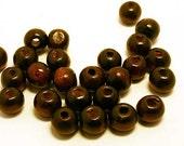 500pcs 6mm Wood Natural Dark Brown Round Beads 6x5mm