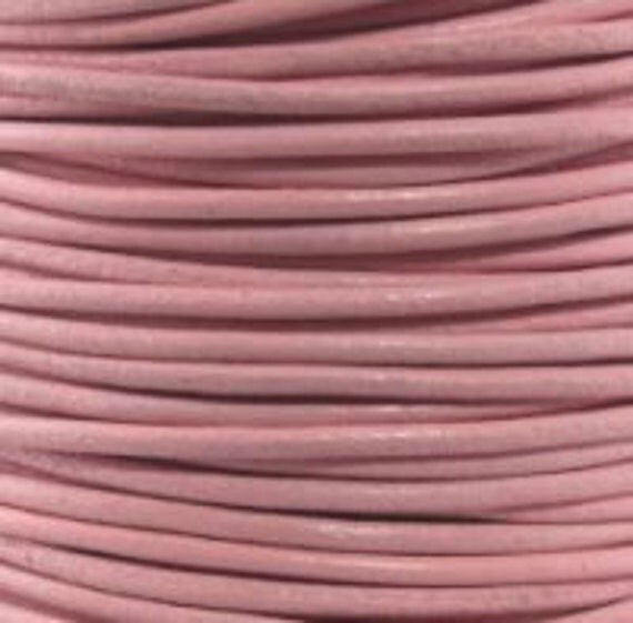 1.5mm Leather Cord - Light Pink - 6 Feet Premium Quality Round Cording
