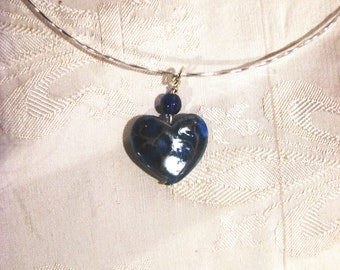 Sterling silver necklace with 2 interchangeable pendants