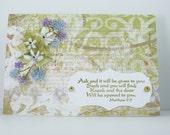 Handmade Card - Bible Verse - Encouragement - Grunge Vintage Floral Spring
