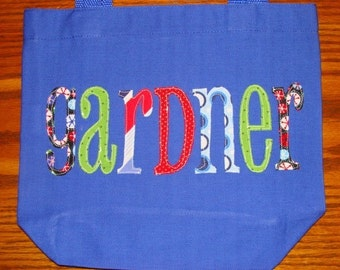 Boy's Personalized Library Tote
