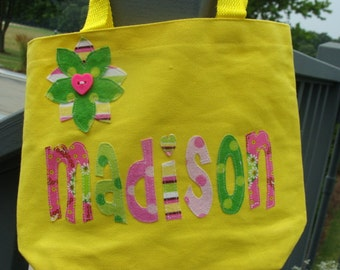 Girls Personalized Library Tote