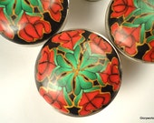 FOR  CHIS   10Cabinet Knobs /   Black Red and Green