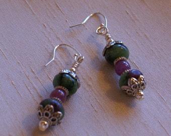 Ruby Zosite Earrings