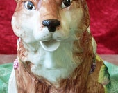 FITZ AND FLOYD Collectible Fox Pitcher/Vase - 1990