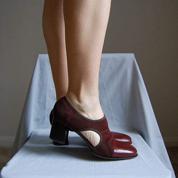 1980s OPEN SIDES elastic bandage heels 8.5