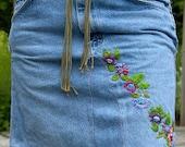 """Short Denim """"Rose"""" Skirt"""