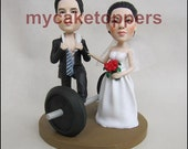Cake topper gym weight bar cake topper