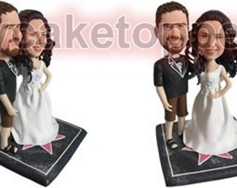Custom wedding Cake Topper bobble head sculpture gift