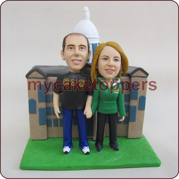 Custom Sculpted wedding Cake Topper  Figurine personalized birthday cake topper bride and groom make from your photos