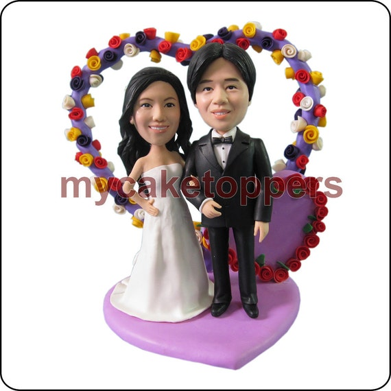 Occasion wedding Cake Toppers, Figurine, personalized, birthday cake topper, customzied bride and groom cake topper, fun cake topper