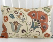 Reserved - Favell Jewel 2 - 12x18 foral decorative pillow cover