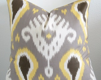 Dwell Studio Batavia Ikat Citrine decorative pillow cover