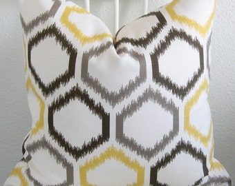 Dwell Studio Ikat Trellis Citrine decorative pillow cover
