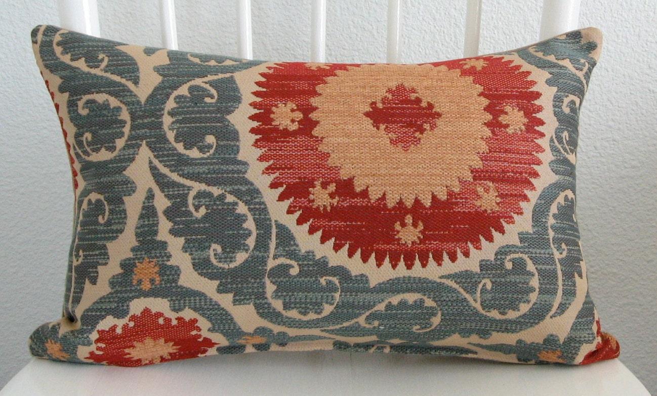 Decorative Pillow Cover Lumbar Pillow Suzani Pillow