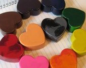 Set of 10 Heart Crayons