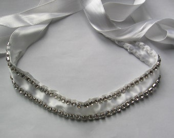 Ribbon Rhinestone Headband