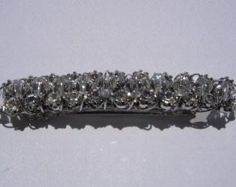 Clear Rhinestone and Swarovski Crystal Barrette