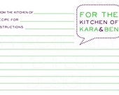 Recipe Cards and Advice Cards-Perfect For Bridal Showers Or To Send Along With Invitations