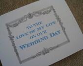 Custom Wedding Day Card (To Groom on Wedding Day)