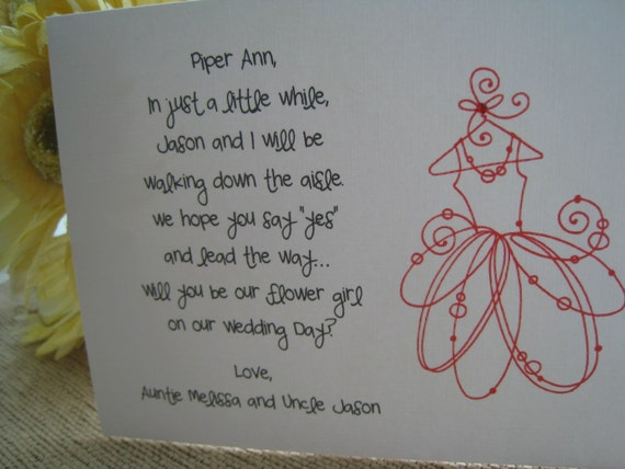 Will You Be My Flower Girl Card (Poem II)