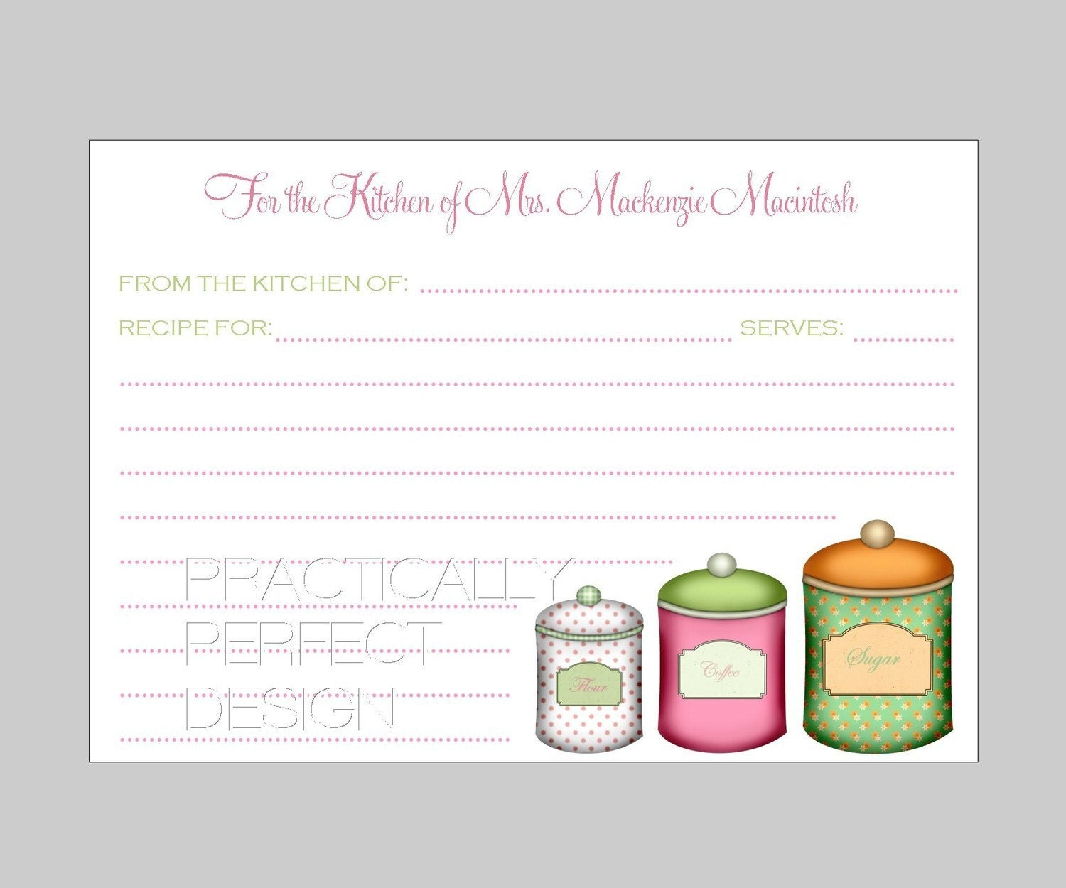 Kitchen Shower Invitations With Recipe Card was perfect invitation design