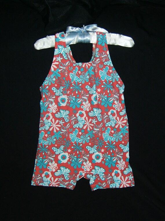 Toddler's unitard dancewear swimwear  costume ballet pink blue butterfly flower hearts and stars