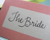Custom Calligraphy Place cards - Jenna's Font