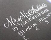 Custom Calligraphy Envelopes with Handwritten Script // For Elegant Weddings, Save the Date Cards, Elegant RSVP envelopes