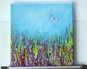 butterfly fantasy box canvas painting