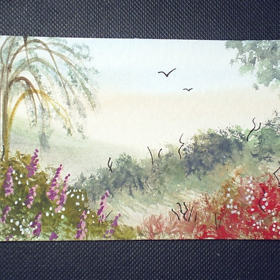 aceo original landscape