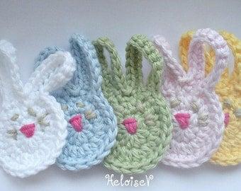 Crochet Pattern Bunny Rabbit Applique - instant download
