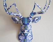 Doozey Blue Deer Head wall mount