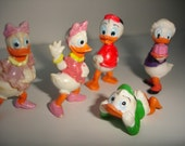 German Vintage Kinder Surprise Eggs Figurines - 5 pieces - part of the Donalds flotte Familie - 1987