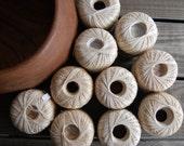 Vintage 1940s Ecru Crochet Thread / Ten Spools / New Old Stock