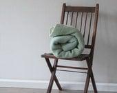 Vintage Seafoam Green Wool Blanket