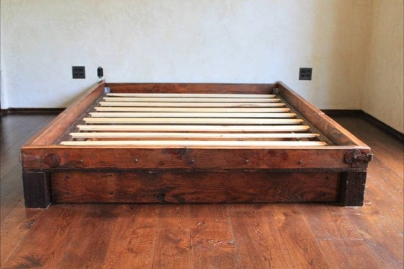 reclaimed wood platform bed items similar to handcrafted reclaimed wood platform bed 11768