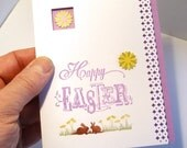 Flowers and Rabbits Easter Card