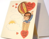 Vintage Valentine Reproduction Hot Air Balloon