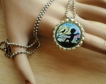Pixie and Bird Necklace