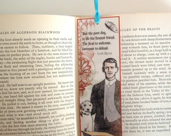 Man and Dog Lord Byron Quotation Bookmark with Ribbon