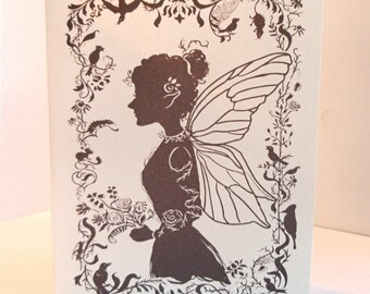 Fairy Silhouette Blank Card