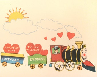 Vintage Valentine Reproduction Train and Engineer