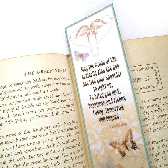 Butterflies Irish Blessing Bookmark