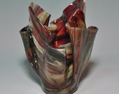 Earth Brown Glass Vase- Reserved for Tracy