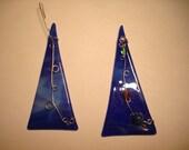 Blue Wire Glass Ornament
