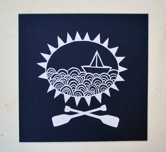 paper boat papercut